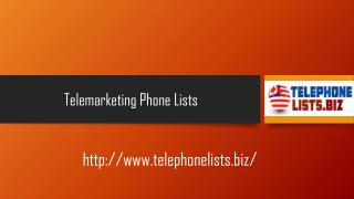 Business and Residential Telemarketing Phone Lists for USA & Canada - TelephoneLists