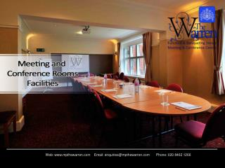 Meetings and Conference Rooms Facilities