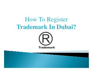 Trademark Registration in Dubai