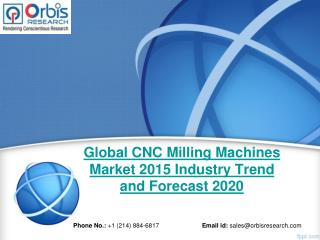 2015 Global CNC Milling Machines Market Key Manufacturers Analysis