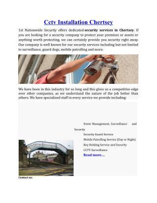 Cctv Installation Chertsey