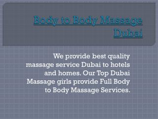 Dubai hotel massage