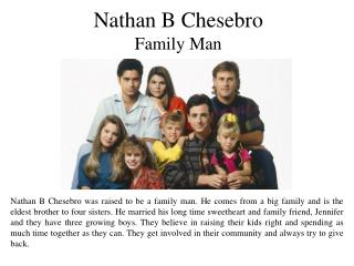 Nathan B Chesebro Family Man