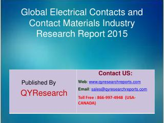 Global Electrical Contacts and Contact Materials Market 2015 Industry Growth, Outlook, Development and Analysis