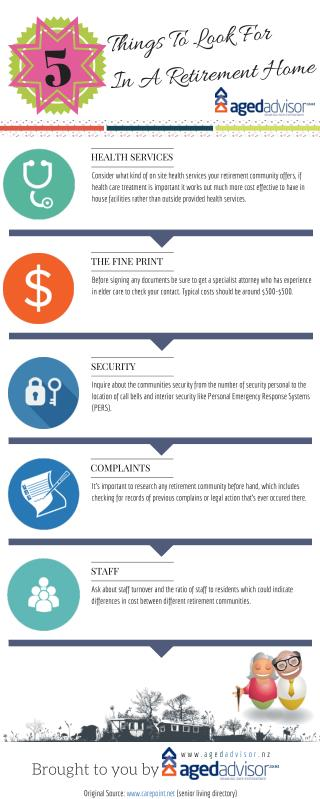 5 Things To Look For In A Retirement Home: Infographic