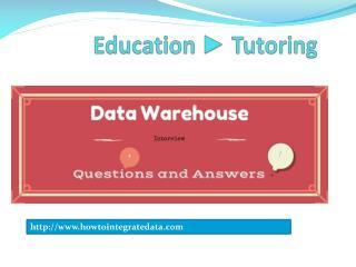 informatica data warehouse interview  scenario based questions