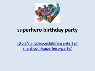 bouncy castle rentals magic show toronto superhero birthday party