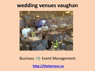 wedding venues vaughan banquet halls