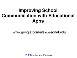 Free Apps for schools