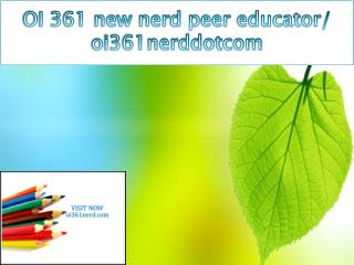 OI 361 new nerd peer educator/ oi361nerddotcom