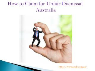 Make Claim for Unfair Dismissal Australia