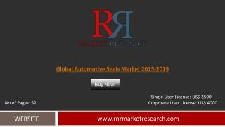 Automotive Seals Market Global Research & Analysis Report 2019