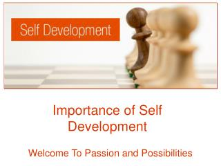 Importance of Self Development
