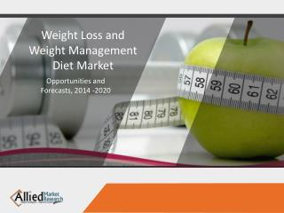 Weight Loss and Weight Management Diet Market
