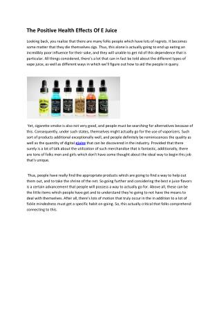Get Cheap E-Juices on the Internet