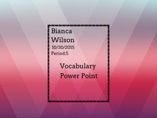 vocabulary powerpoint