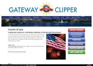 Celebrate America's Birthday Aboard a Pittsburgh Riverboat!