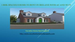 1 BHK Spacious home to rent in Ireland with AC and wi fi