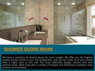 Shower Doors West Palm Beach