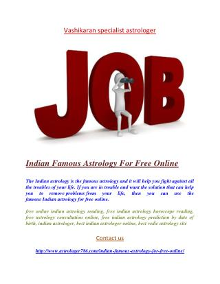 Indian Famous Astrology For Free Online