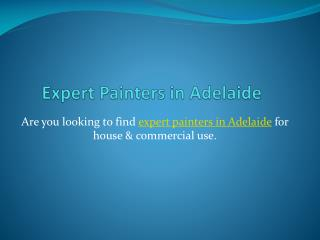 Expert Painters in Adelaide