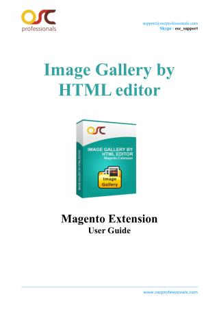 Image Gallery by HTML editor