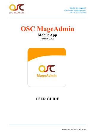 OSC MageAdmin Mobile App