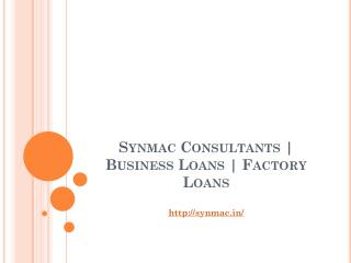 Synmac Consultants Business Loans