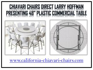 Chiavari Chairs Direct Larry Hoffman Presenting Plastic Commercial Table
