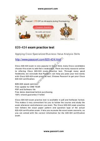 Cisco 820-424 exam practice test