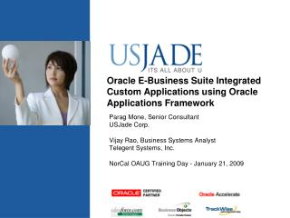 Oracle E-Business Suite Integrated Custom Applications using Oracle Applications Framework