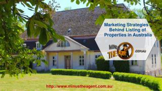 Marketing Strategies Behind Listing of Properties in Australia