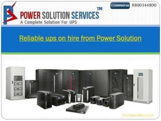 Reliable ups on hire from Power Solution