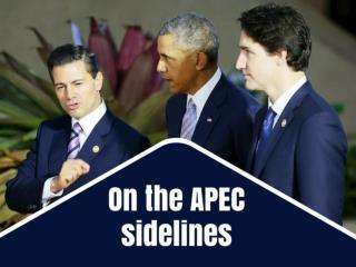 On the APEC sidelines