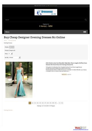 Designer Evening Dresses Nz Online