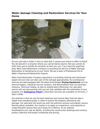 San Fernando Valley Water Damage