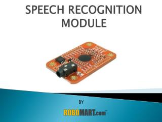 Speech Recognition Module By Robomart