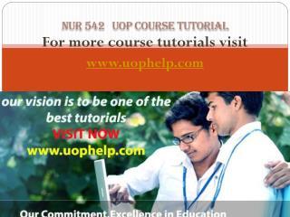 NUR 542 Academic Coach uophelp