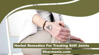 Herbal Remedies For Treating Stiff Joints