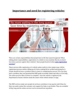 Auto registration services in california