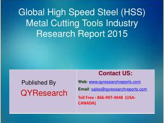 Global High Speed Steel (HSS) Metal Cutting Tools Market 2015 Industry Growth, Trends, Analysis, Share and Research