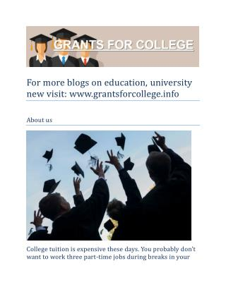 Scholarships Education and University News
