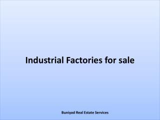 Industrial Factories for sale in Noida