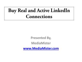 Buy Real and Active LinkedIn Connections