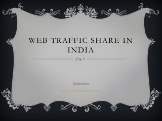 Web traffic is a notable thing when we consider more sales for your products and here is the traffic rate share by India