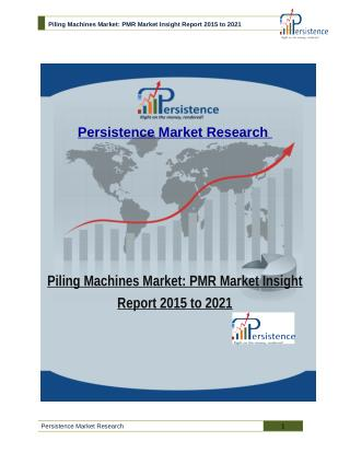 Piling Machines Market: PMR Market Insight Report 2015 to 2021