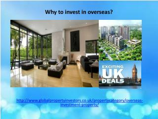 Why to invest in overseas