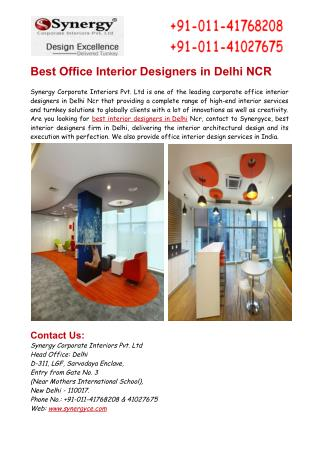Best Office Interior Designers in Delhi NCR