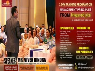 1 Day Corporate Training on Management Prinicples on Bhagavad Gita