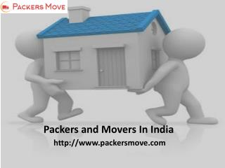 Packers movers in India @ Packersmove.com